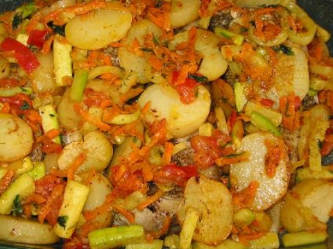 Рецепт овощи с картошкой в духовке рецепт с фото пошагово