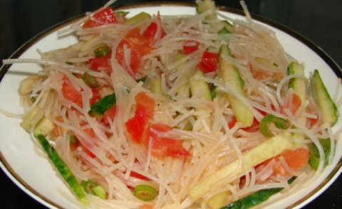 Фунчоза салат с овощами рецепт