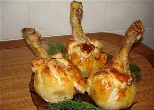 Рецепт с фото куриные ножки в тесте