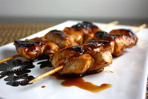 Якитори из курицы и овощей
